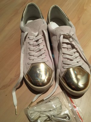 Michael Kors Lace-Up Sneaker natural white-gold-colored