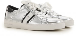 Michael Kors  Sneaker Frankie Stripe Leather Black Pale Silver