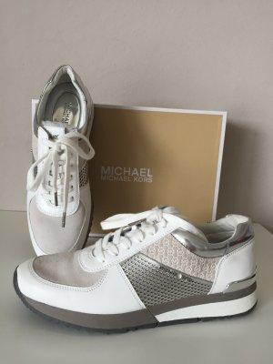 Michael Kors Sneaker Gr. 40,5 Neu Schuhe grau weiß Silber 9,5 M
