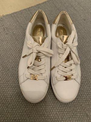 Michael Kors Sneaker in Weiß Gold Original und Neuwertig