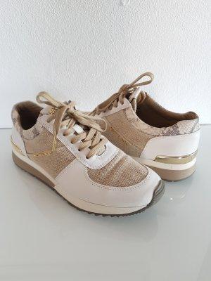 MICHAEL KORS Sneaker, weiß/beige/gold, Gr.38,5, Leder/Stoff