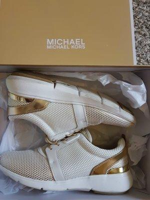 Michael Kors Sneakers Weiß Gold