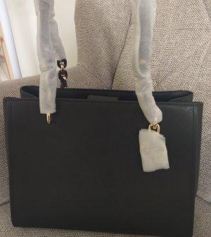 Michael Kors Sofia Large Tasche Handtasche neu schwarz gold schultertasche saffiano leder