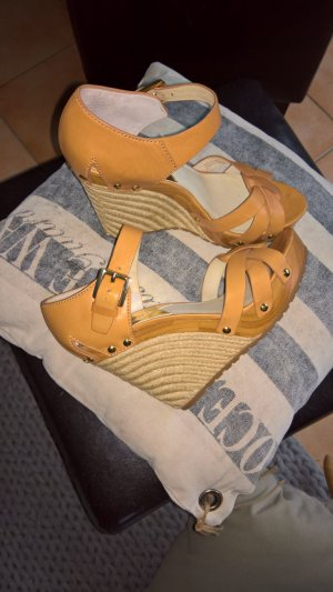 Michael Kors Somerly Wedge Peanut Gr.39 Echt Leder
