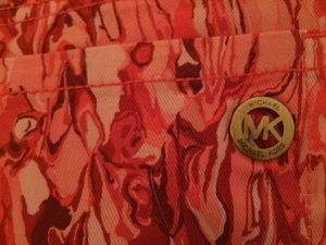 Michael Kors Pantalón corto rojo frambuesa-blanco