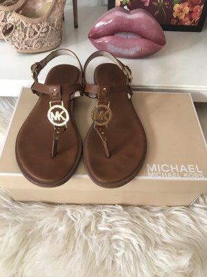 Michael Kors Sandalo toe-post cognac-marrone Pelle