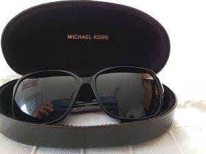 Michael Kors Angular Shaped Sunglasses black-gold-colored