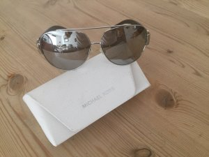 Michael Kors Oval Sunglasses silver-colored