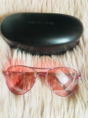 Michael Kors Sonnenbrille Rosa Gläser mit Rosegoldenem Ramen Aviator Style
