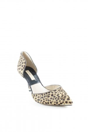 Michael Kors Spitz-Pumps schwarzbraun-camel Leomuster Animal-Look