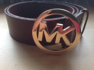 Michael Kors Leather Belt brown-cognac-coloured leather