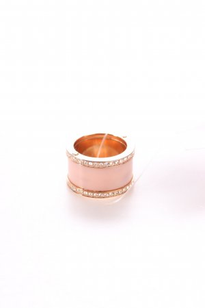 """Michael Kors Statementring """"Pavé Rose Gold-Tone and Acetate Ring Size 8"""""""