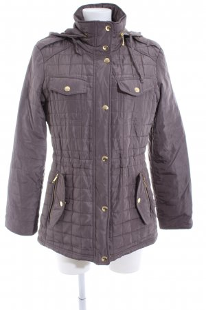 Michael Kors Quilted Jacket taupe quilting pattern casual look