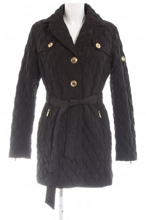 Michael Kors Quilted Coat black quilting pattern casual look