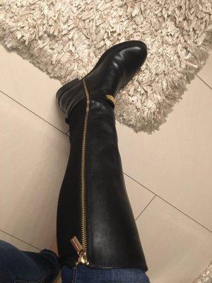 Michael Kors Jackboots black-gold-colored leather
