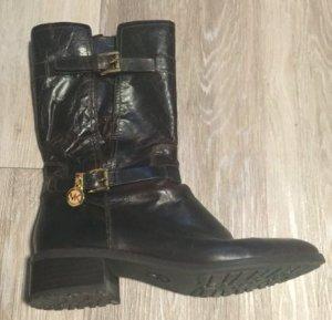 Michael Kors Zipper Booties dark brown-brown leather
