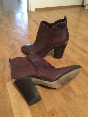 Michael Kors Stiefeletten Ankle Boots Absatz Braun 39 Leder