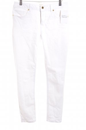 Michael Kors Straight-Leg Jeans weiß Logo-Applikation aus Metall