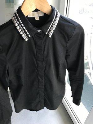 Michael Kors Stretch Bluse schwarz Größe xs