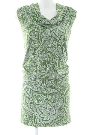 Michael Kors Stretchkleid grün-weiß abstraktes Muster Business-Look