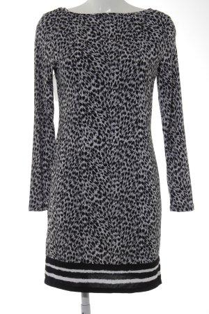 Michael Kors Stretchkleid schwarz-weiß abstraktes Muster Casual-Look