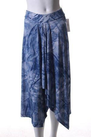 Michael Kors Stretchrock hellblau-blau abstrakter Druck Casual-Look