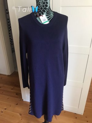Michael Kors Strick Kleid  Navy Blau Gold  L 40 10