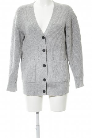 Michael Kors Strickjacke hellgrau meliert Casual-Look