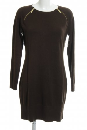 Michael Kors Strickkleid dunkelbraun Casual-Look