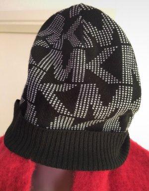 Michael Kors Sombrero de punto negro-blanco