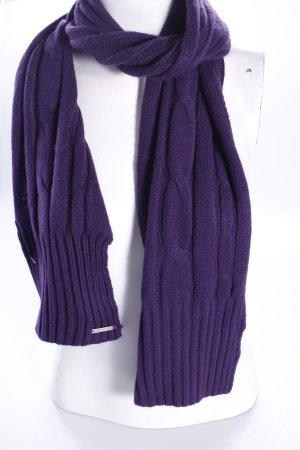 Michael Kors Bufanda de punto violeta oscuro Acrílico