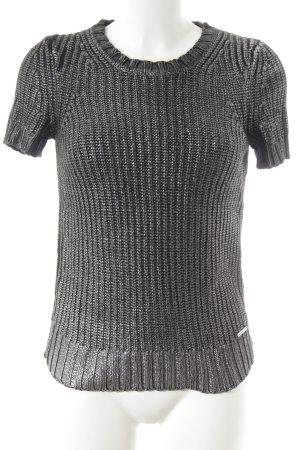 Michael Kors Camisa tejida negro-color plata Patrón de tejido