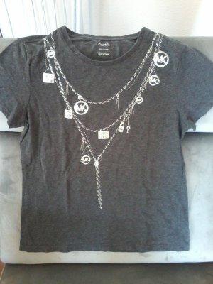 Michael Kors Camicia fantasia argento-antracite
