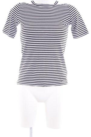 Michael Kors T-Shirt schwarz-weiß Streifenmuster Casual-Look