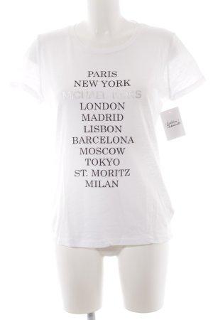 Michael Kors T-Shirt weiß Schriftzug gedruckt Casual-Look