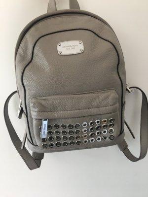 MICHAEL KORS Tagesrucksack Leder grau/silber