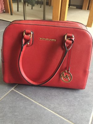 Michael Kors Bolso barrel color oro-rojo oscuro