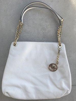 Michael Kors Carry Bag white leather