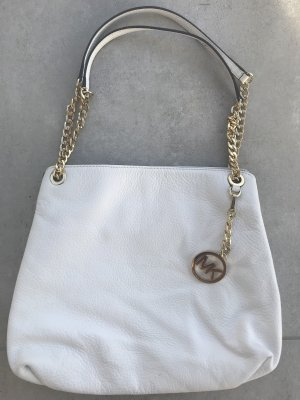 Michael Kors Carry Bag white leather