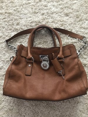 Michael Kors Bowling Bag cognac-coloured
