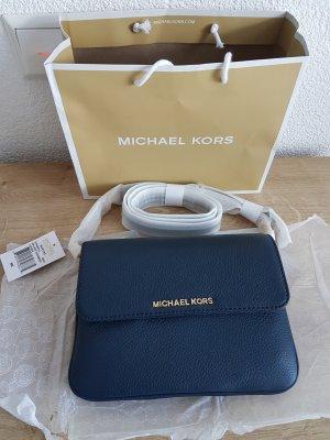 Michael Kors Tasche Bedford Flap Crossbody navy blau Clutch NEU