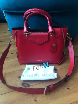 Michael Kors Tasche Blakely Messenger Medium MD Bright Red Rot Gold