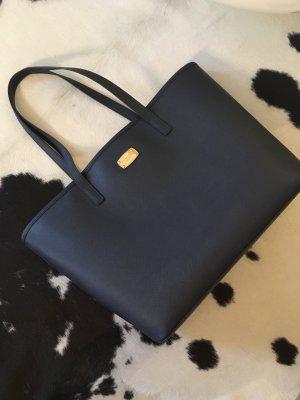 Michael kors Tasche blau Gold Jet set Travel shopper Mode Handtasche neu