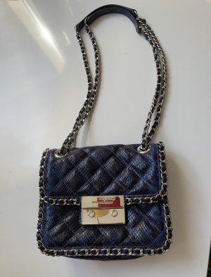 Michael Kors Tasche blau-schwarz 20 cm breit