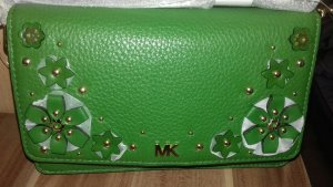 Michael Kors Crossbody bag green-gold-colored leather