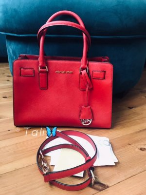 Michael Kors Tasche Dillon Medium MD Chili Bright Red Rot Gold