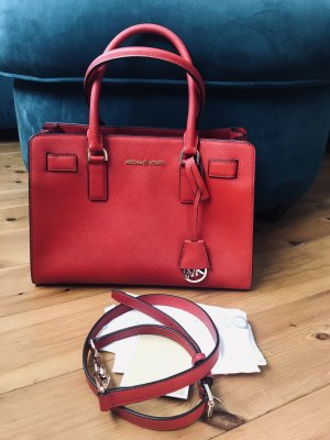 Michael Kors Tasche Dillon Medium MD Chilli Bright Red Rot Gold