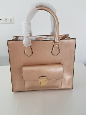 Michael Kors Handbag rose-gold-coloured-gold-colored leather