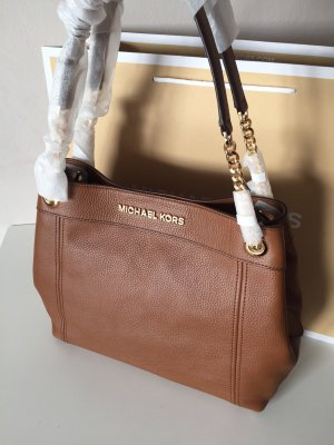 Michael Kors Tasche Handtasche Neu Jet Set Item Luggage braun Gold shoulder Tote Shopper