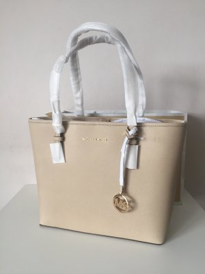 Michael Kors Tasche Handtasche Neu Shopper NEU Jet Set Travel Bisque beige Leder
